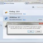 JSON View configuration
